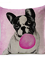 Polyester Decorative Cushion Pillow Cover Animal Dog Sofa Home Decor 45x45cm