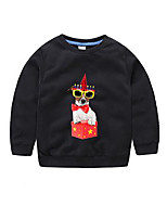 Boy's Casual/Daily Solid Hoodie & SweatshirtCotton Spring / Fall Black / Blue / White