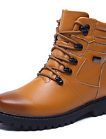 Men's Fashion Martin Boots Casual Tooling Boots Leather Boots Flat Heel Lace-up Walking EU39-43