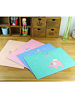 The Elephant Cartoon Folder File Bag Student Bag Multifunctional File Folder