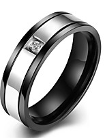 Ring Others Unique Design Fashion Wedding Party Daily Casual Sports Jewelry Stainless Steel Zircon Men Ring 1pc,7 8 9 10 Black