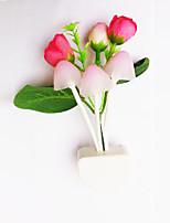 Home room decoration LED lights 7 colours changable rose mashroom mini light lamp for gifts