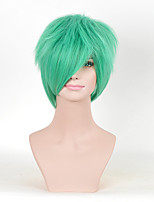 New Short Curly Green Color Cosplay Synthetic Wigs For Women