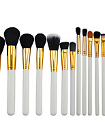 15  Makeup Brushes Set Synthetic Hair Professional / Portable Wood Eye / Lip White1