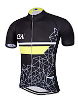 QKI Quadrado Pro Cycling Jersey Men's Short Sleeve Bike Breathable / Quick Dry / Anatomic Design / Front Zipper / Back Pocket / Reflective Strips