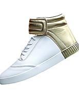 Men's Sneakers Spring / Fall Comfort PU Casual Flat Heel  Black / Gold / Black and White Sneaker