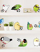 Creative 11 Parrot Birds DIY Wall Stickers Fashion PVC Living Room Bedroom Wall Decals