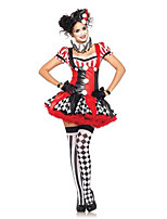 Cosplay Costumes Burlesque/Clown Movie Cosplay Red Solid Dress / Gloves / Headwear Halloween / Carnival Female Polyester