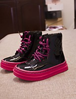 Girl's Boots Others Leather Casual Black Pink