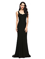 TS Couture® Formal Evening Dress Trumpet / Mermaid Scoop Sweep / Brush Train Jersey with Lace