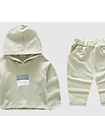 Boy's Casual/Daily Solid Clothing SetCotton Spring / Fall Black / Beige