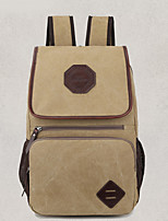 Casual Backpack Men Canvas Brown Black Khaki