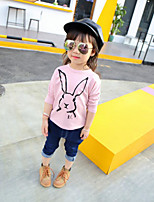 Girl's Casual/Daily Solid TeeCotton Spring / Fall Pink
