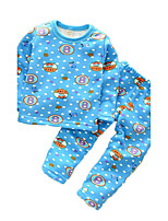 Boy's Casual/Daily Print Clothing Set / SleepwearCotton Spring / Fall Blue / Pink / Red / Yellow