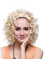 Girls Fashion Wave Blonde Color For Women Cosplay Wig