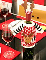 2pcs bouteille de vin couvre ensembles père noël vêtements de chapeau de noël de fête de Noël pour Noël bouteille cadeau nouvelle année