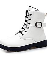 Черный / Белый-Мужской-Для прогулок / На каждый день-Полиуретан-На плоской подошве-Others-Ботинки