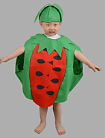 Kid Halloween Christmas Fruit Vegetable Watermelom Strawberry Printed Costume Cosplay Dress Hat Suits