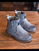 Boy's Boots Comfort Suede Casual Black Gray Khaki