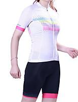 Sportif Maillot et Cuissard de Cyclisme Femme Manches courtes VéloRespirable / Séchage rapide / Design Anatomique / Résistant aux