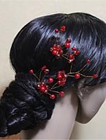 נשים קריסטל סגסוגת דמוי פנינה כיסוי ראש-חתונה אירוע מיוחד סיכת שיער 2 חלקים