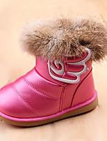 Розовый Красный Белый-Для девочек-Повседневный-Полиуретан-На плоской подошве-Удобная обувь-Ботинки