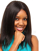 10-16 Inch Short Natural Straight Full Lace & Lace Front Wig Human Virgin Hair Lace Wig with Baby Hair