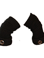 Lovely Woman (Black Button Cuff Gloves)
