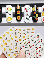 3pcs Fruit Nail Watermark Stickers