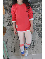 Girl's Casual/Daily Solid PantsCotton Fall Pink