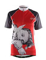 Sportif Maillot de Cyclisme Femme Manches courtes Vélo Respirable / Séchage rapide / Zip frontal / Tissu Ultra Léger / Doux / Confortable