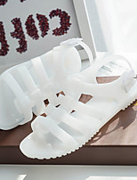 Women's Sandals Summer Slingback Leatherette Casual Flat Heel Others Black White Beige Others