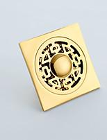 drenagem quadrados piso do chuveiro com telha de inserção grelha acabamento de ouro estilo deep