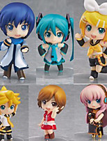 Vocaloid Hatsune Miku PVC 6.5cm Anime Action Figures Model Toys Doll Toy 1set