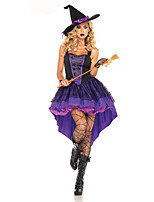 Cosplay Costumes Wizard/Witch / Vampire Movie Cosplay Purple Solid Dress / Hat Halloween / Carnival Female Polyester
