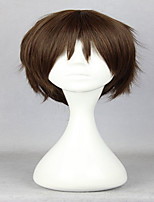 Anime Classical Attack on Titan Eren Jaeger 30cm Short Brown Cosplay Wig Synthetic Party Wig