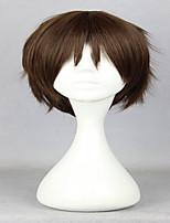 аниме классическая атака на Титане Эрен Jaeger 30см короткий коричневый парик косплей синтетический парик партии