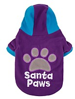 Letter Santa Paws Cute Winter Warm Jacket Lovely Coat Dog Clothes Puppy Sport Hoodie Pet Jumpsuit Dog Clothing