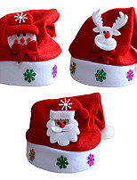 3pcs/lot Christmas Gifts Christmas Hats kids Hat Child Paragraph Decals Christmas Cartoon Caps Kids Cap