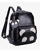 Unisex PU Casual / Outdoor Backpack Black