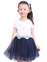 Girl's Casual/Daily Solid DressOthers Summer Blue / Pink / Purple