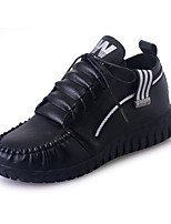Women's Sneakers Fall Winter Comfort PU Casual Flat Heel Lace-up Black Red Gold Others