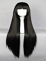 Fashion Lolita Hot Shakugan no Lover Black Long Straight Synthetic Cosplay Wig