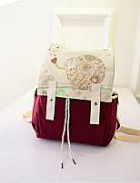 Women Canvas Casual Backpack Purple / Green / Black / Burgundy