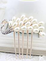 Hochzeitsschleier Einschichtig Kopfbedeckung mit Schleier Perlenbesetzter Saum Tüll