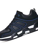 Черный и красный Черный и белый Тёмно-синий-Женский-Повседневный Для занятий спортом-Кожа-На плоской подошве-Удобная обувь-Кеды
