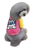 Dog Sweatshirt Dog Clothes Winter Spring/Fall Cartoon Cute Fashion Orange Gray Yellow Blue Pink