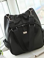 Women PU Casual School Bag Black