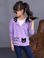 Girl's Casual/Daily Print Suit & BlazerCotton Fall Blue / Purple / Red