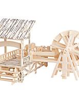 Пазлы Деревянные пазлы Строительные блоки DIY игрушки Квадратная / ветряная мельница 1 Дерево Со стразами